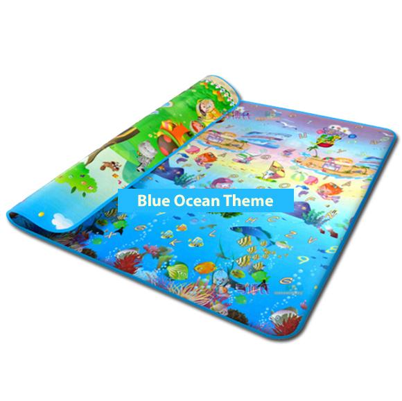 Ocean Blue Foam Playmat